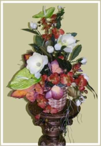 kompozycja z kwiatów sztucznych 10